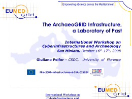 Archaeology on EUMEDGRID: the ArchaeoGRID project