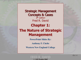 Strategic Management Concepts & Cases Eighth Edition …