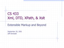 Xml, XPath, & Xslt - Cornell University
