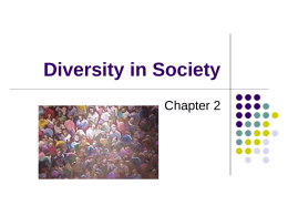 Diversity in Society - University of Minnesota Duluth