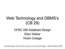 Web Technology and DBMS's