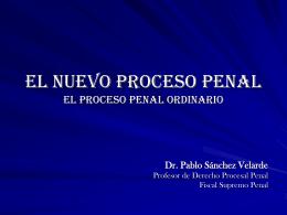 El nuevo proceso penal el proceso penal ordinario