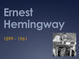 Ernest Hemingway - North Ridgeville City Schools