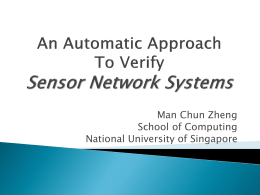 Automatic Verification of Sensor Network Systems