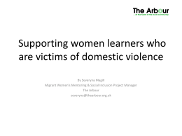 Supporting women learners who are victims of domestic …