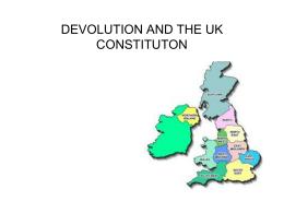 UK DEVOLUTION