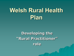 Welsh Rural Health Plan