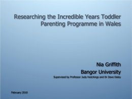 Researching the Incredible Years Toddler Parenting