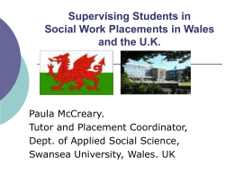 Supervising Students in Social Work Placements
