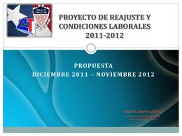 PROYECTO DE REAJUSTE Y CONDICIONES LABORALES …