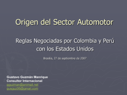 Origen del Sector Automotor