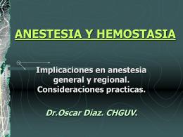 ANESTESIA Y HEMOSTASIA