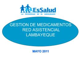 GESTION DE MEDICAMENTOS RED ASISTENCIAL …