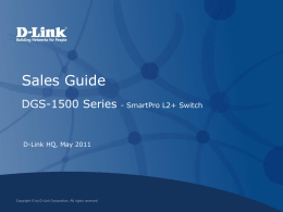 DGS-1500 Series_Sales Guide
