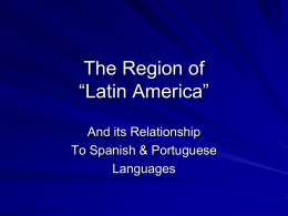 "The Region of ""Latin America"""