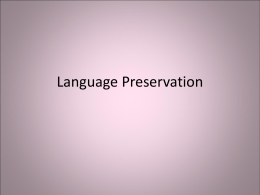 Language Preservation