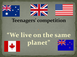 Teenagers' competition