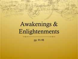 Awakenings & Enlightenments
