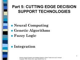 Part 5: CUTTING EDGE DECISION SUPPORT …
