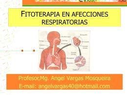 FITOTERAPIA EN AFECCIONES RESPIRATORIAS