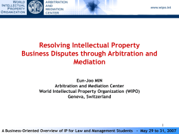 WIPO Arbitration and Mediation Center