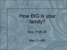 How BIG is your family?
