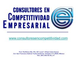 Diapositiva 1 - Consultores en Competitividad