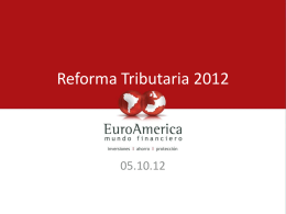 Proyecto de Ley Reforma Tributaria 04.09.2012