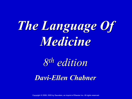 The Language of Medicine - Missouri Valley Schools