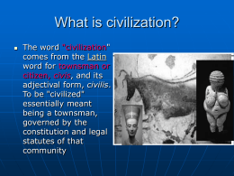 What is civilization - Powerpoint Presentations for teachers
