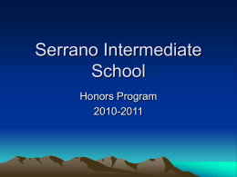Serrano Intermediate School - Saddleback Valley Unified