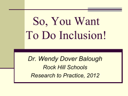 Inclusion! - Rock Hill School District