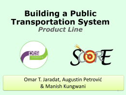 Public Transportation System Product Line