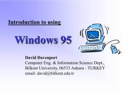 Introduction to using Windows'95 & Windows NT