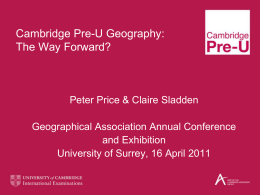 Cambridge Pre-U Consultation