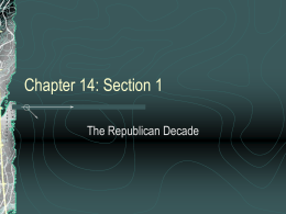 Chapter 14: Section 1