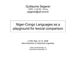 Diapositive 1 - DDL : Accueil