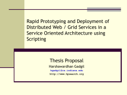 Rapid Prototyping and Deployment of Distributed Web / …