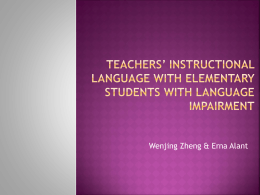 Teachers' instructional language with elementary …