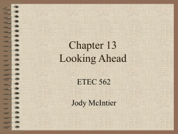 Chapter 13 Looking Ahead