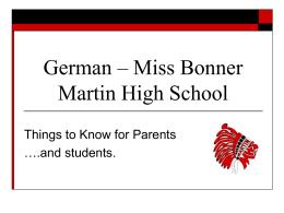 Orientation to Martin High School