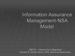 Information Assurance Management