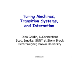 Modeling Interactive Computation: Turing Machines or