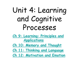 Unit 1: Approaches to Psychology