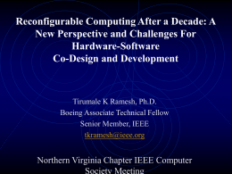 Reconfigurable Computing After a Decade: A Perspective