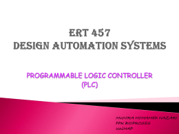 ERT 457 DESIGN AUTOMATION SYSTEMS