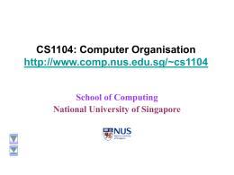 CS1104: Computer Organisation
