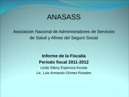 Diapositiva 1 - ANASASS - Asociacion Nacional de