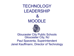 TECHNOLOGY LEADERSHIP & MOODLE