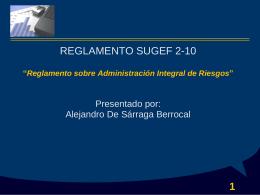 Reglamento SUGEF 2-10